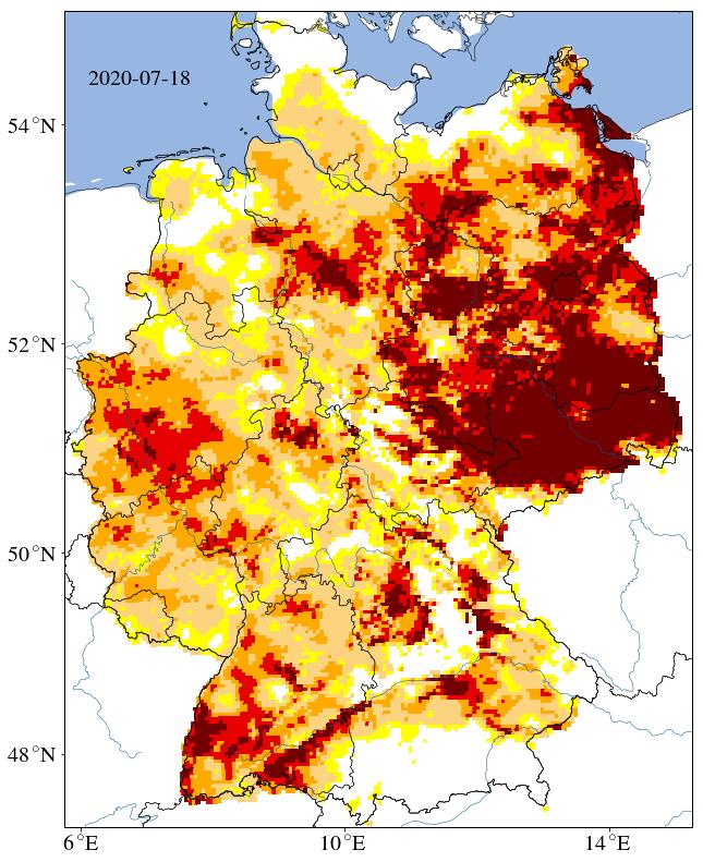 Heatmap of germany.