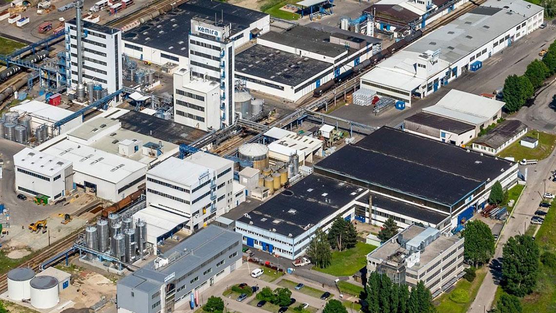 Aerial view of Kemira site in Krems.